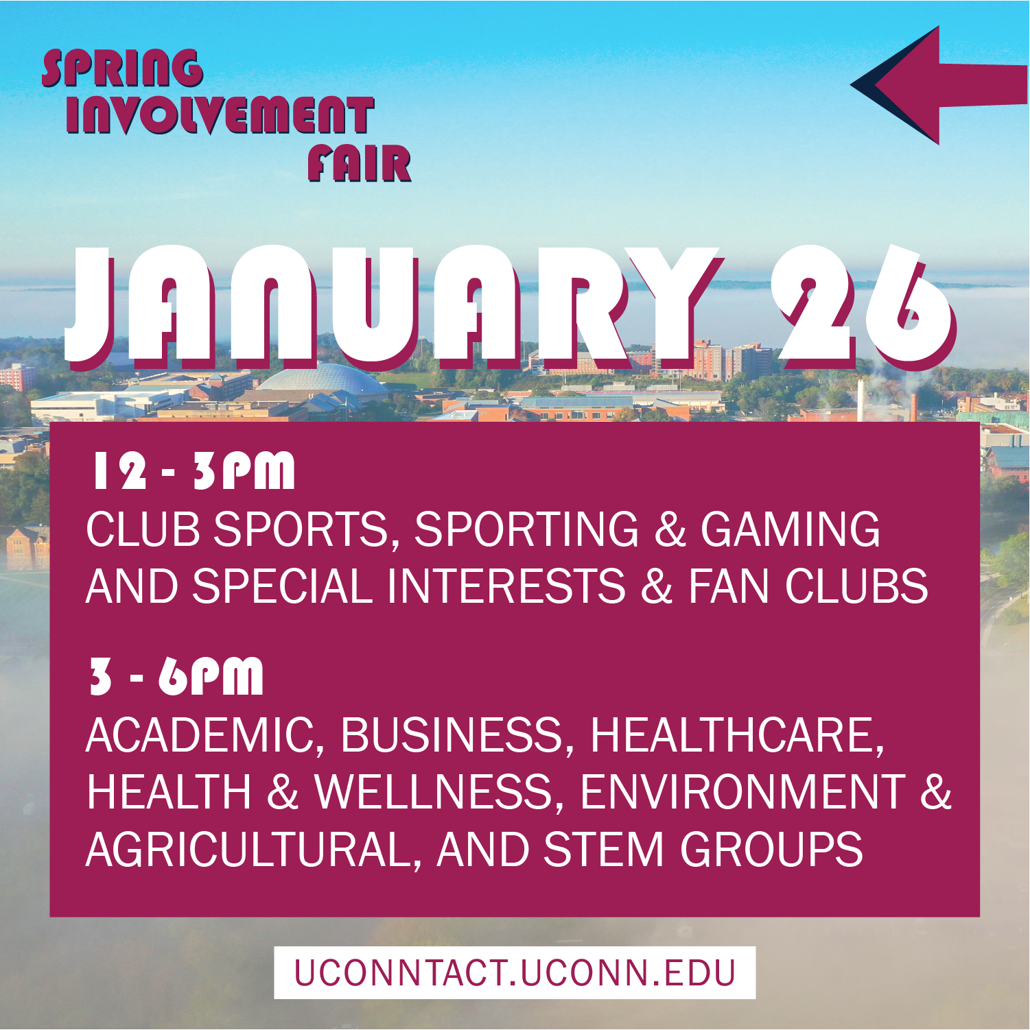 Jan 26th Involvement Fair
