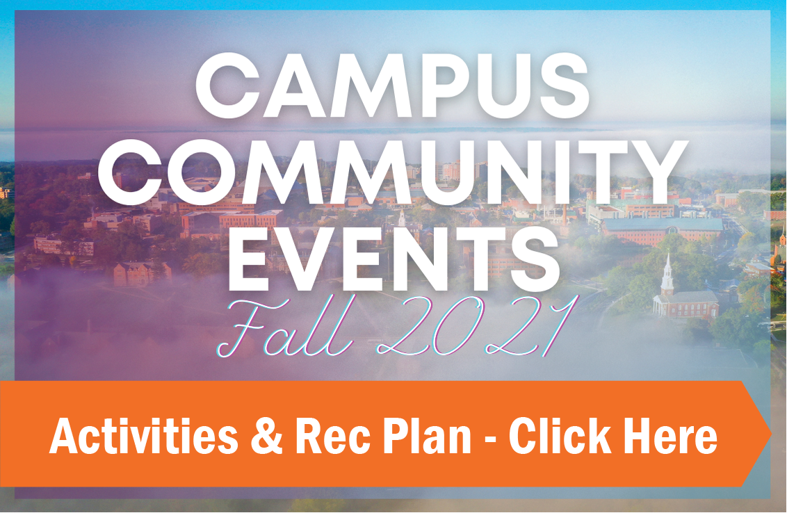 campus community events plan fall 21